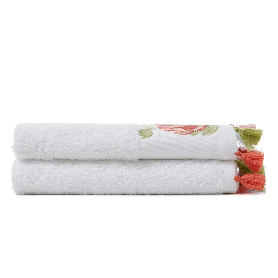 Embroidered Hand Towels 2 Pack Australiana