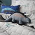 Jersey Quilted Dino Quilt Cover Set Grey