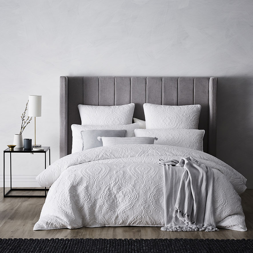 White Quilted Duvet Cover Sweetgalas