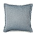 Savana Vintage Washed Fringed Pale Blue Cushion
