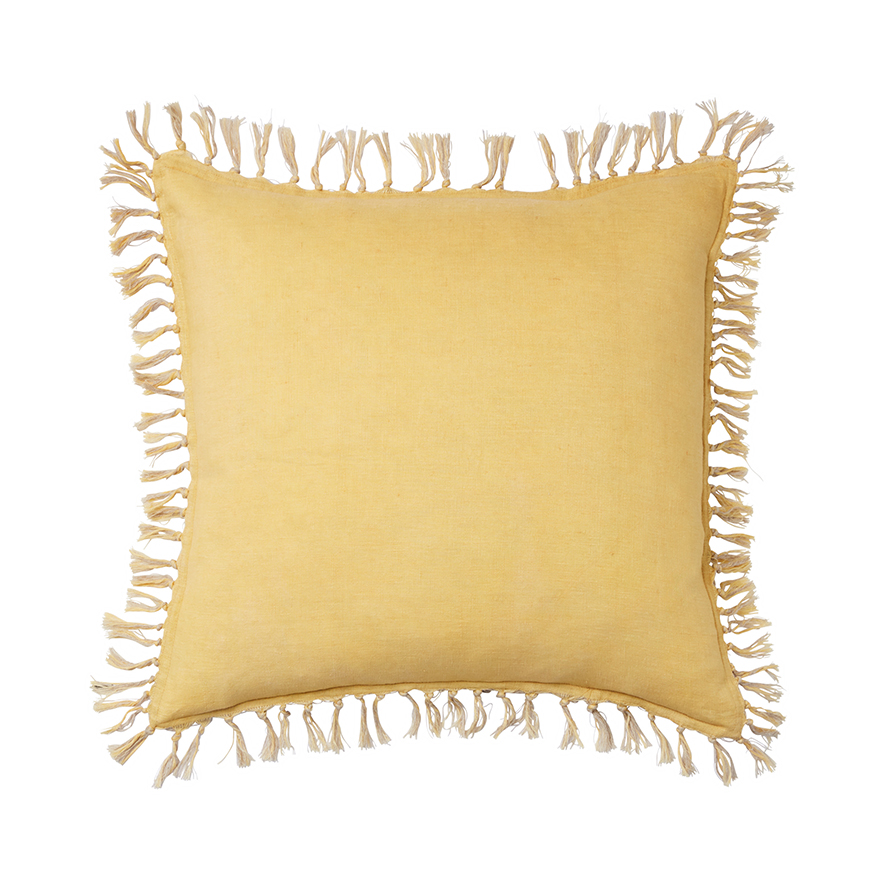 Home Republic - Genoa Vintage Washed Linen Cushion Mustard